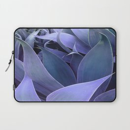 Abstract Leaves Periwinkle Teal Laptop Sleeve