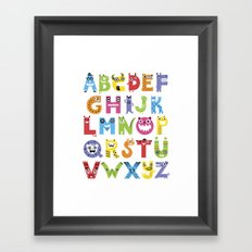 Alphabet Monsters Framed Art Print