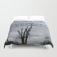 courage Duvet Covers featuring Courage by Wired Circuit