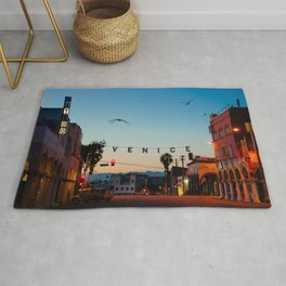 Venice Beach California Sunrise Rug
