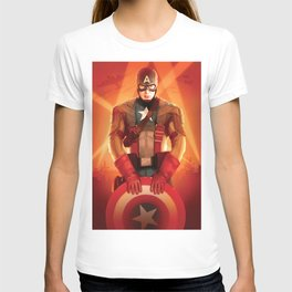 Captain The First  Avenger America by Big Foot Studios T-shirt