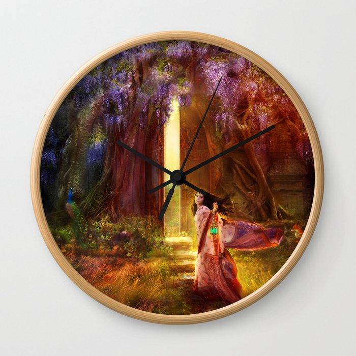 A Knock At The Door Wall Clock