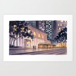 Bryant Park By Night Art Print