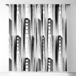 Black and White Geometric Apartments Blackout Curtain