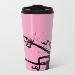 Aqua Dark rose Travel Mug