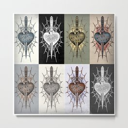 daggerPattern Metal Print