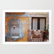 Porto Window Art Print