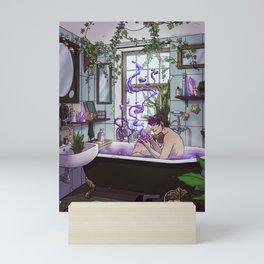 Modern Male Witch Bathroom Mini Art Print