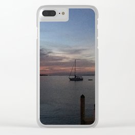Dock Sunset Clear iPhone Case