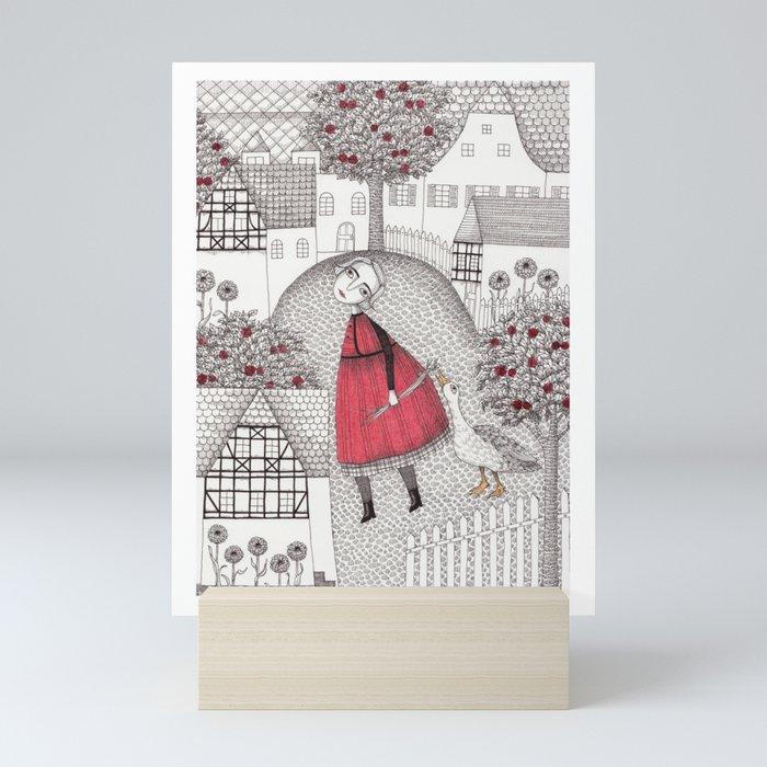 The Old Village Mini Art Print