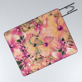 Rose Glow Tropic Picnic Blanket
