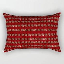 Red and Gold Rectangular Pillow