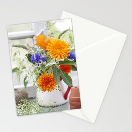 Natural flowers at the window Stationery Cards