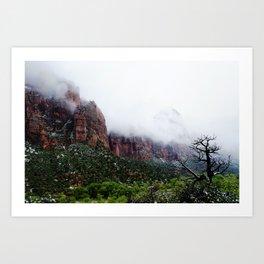 Foggy Tree Art Print