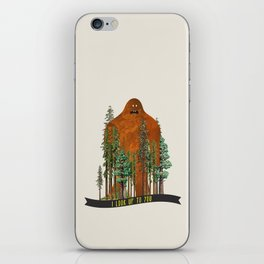 I Look up to You (Bigfoot in the Forest) iPhone Skin