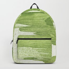 Green stained watercolor design Backpack