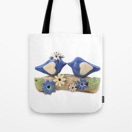 Blue birds Love birds Tote Bag