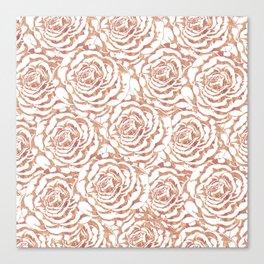 Elegant romantic rose gold roses pattern image Canvas Print