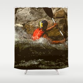 Kayaker Shower Curtain