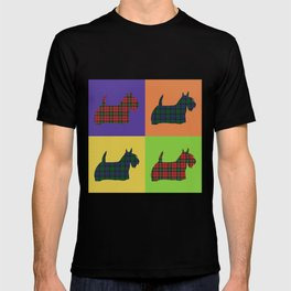 Scottie Dog - Tartan - Pop Art Style T-shirt
