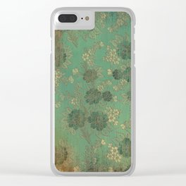 Grenada Floral 1 Clear iPhone Case