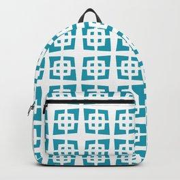 Mid Century Modern Pattern 272 Cerulean Blue Backpack