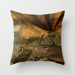 1987 Steampunk Throw Pillow