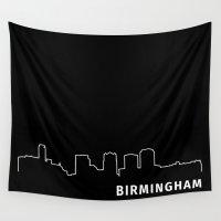 alabama Wall Tapestries featuring Birmingham, Alabama by Fabian Bross