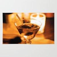 martini Area & Throw Rugs featuring Martini by Ann Yoo