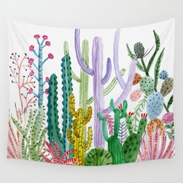 Succulent Happy Garden Wall Tapestry