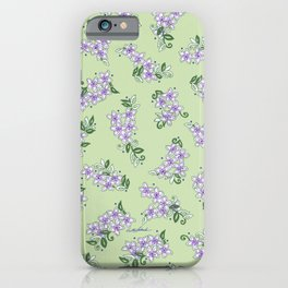 The Little Lilac Flowers are Home; In Memory of Mackenzie iPhone Case