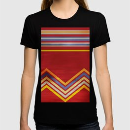 Stripes and Chevrons Ethic Pattern T-shirt
