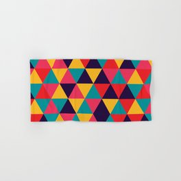 Colorful Triangles (Bright Colors) Hand & Bath Towel