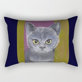 Warrior Kitten Rectangular Pillow