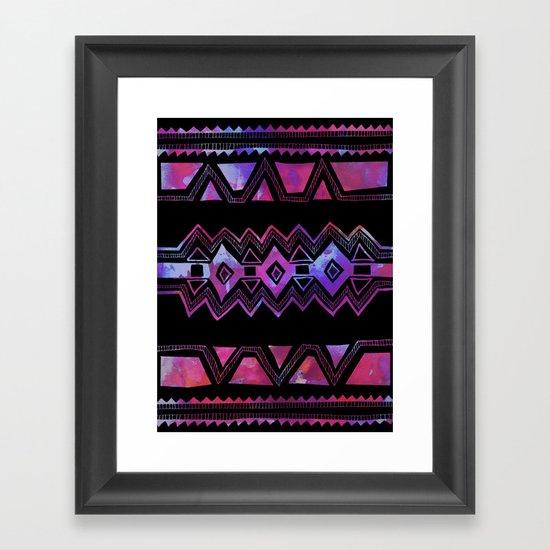 PATTERN {Tribal 001} Framed Art Print