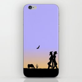 Western Cowboy and Cowgirl on the Range iPhone Skin