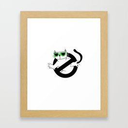 Cat Thug Buster | Digital Art Framed Art Print