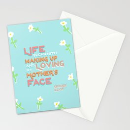 Mother's Day. Quote by George Eliot. Stationery Cards