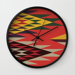 American Native Pattern No. 131 Wall Clock
