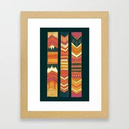Navii Geometric Tapestry Framed Art Print