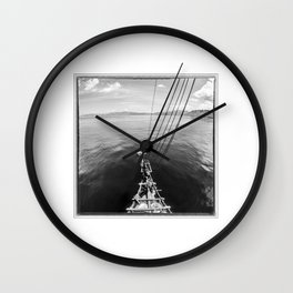 Indonesia, Sailing in Komodo National Park Wall Clock