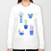 succulents Long Sleeve T-shirts featuring Succulents by Nic Squirrell