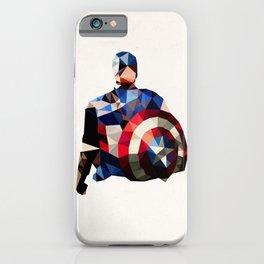 Polygon Heroes - Captain America iPhone Case