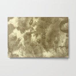 Golden Sequin Design Metal Print