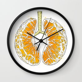 citrus lungs Wall Clock