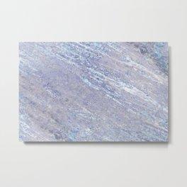 Ocean Blue Marble Metal Print