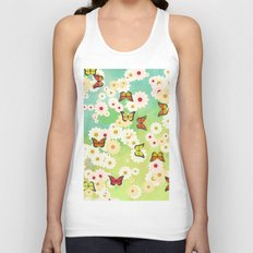 Daisies and butterflies Unisex Tank Top