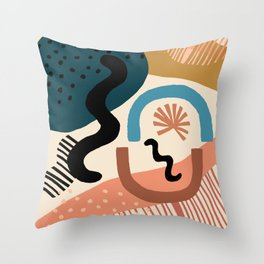 Shapes Party Throw Pillow