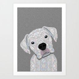 Cute White Boxer Art Print