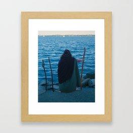 3 of Wands Framed Art Print